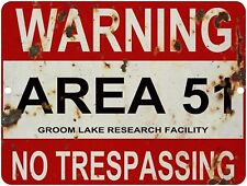 Vintage Retro Reproduction AREA 51 DO NOT ENTER WARNING Metal Sign 9x12    #3
