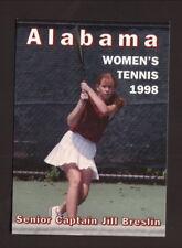 Alabama Crimson Tide--1998 Tennis Pocket Schedule