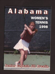 Alabama Crimson Tide--1998 Tennis Pocket Schedule