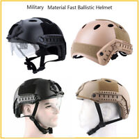 Airsoft Paintball Tactical Helmet With Goggle Military Combat SWAT Fast Helmet