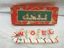 Vintage NOEL Candy Cane Kids Christmas Candle Holder Decoration Box Relco Japan