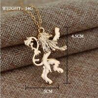 Colgante JUEGO DE TRONOS Casa Lannister con cadena incluida 3 x 4 cm