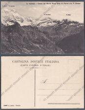 VERCELLI VALSESIA MONTE ROSA 84 PARROT - GROBER Cartolina