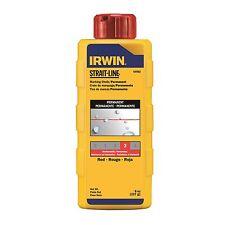 Irwin STRAITLINE CHALK POWDER 8oz RED Violet Dust-Off Flip Top Cap USA Brand