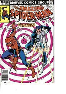 Amazing Spider-Man 201 Punisher Fine 1980 Glossy