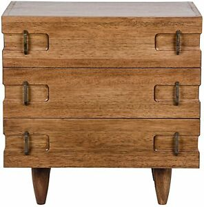 """32"""" T Set of 2 Bedside Table Modern Contemporary Hand Crafted Solid Walnut"""