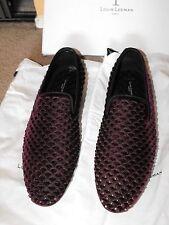 RARE! NIB $1095 Louis Leeman Studded Suede Loafers size Eu 44 UK 10 US 11