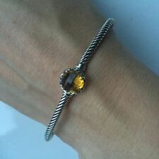 Authentic DAVID YURMAN $325 NEW Chatelaine Collection Bracelet bangle w Citrine