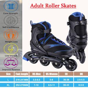 Inline Skates for Adult Men Women, Adjustable Size Roller Skates