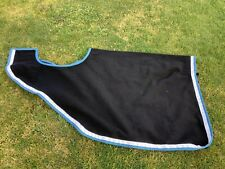 Ecotak Wool Cutaway Removable Quarter Sheet/exercise rug - Black with white & te