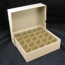 Large Dollar Round or Square Coin Tube or Roll Storage Box w/Dividers Holds 25
