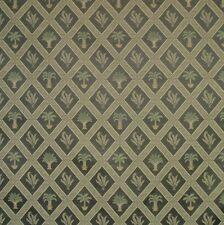 Tropical Palm Palmetto Tree Art Deco Black Ebony Tan Upholstery Fabric 1527-203