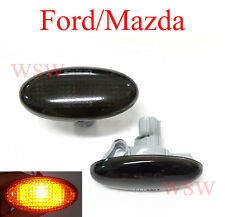 MAZDA 2 3 5 6 BT-50 MPV FORD RANGER SMOKED SIDE WING INDICATOR REPEATERS