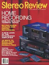 Stereo Review Magazine March 1994 Yamaha CX-2 A/V, Sony MDS-501, B&W 2003, Bose