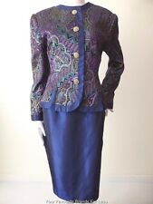 ANTHEA CRAWFORD rrp $899  Made In Australia Size 12 US 8 Skirt and Jacket Suit