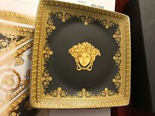 VERSACE BAROQUE ASH TRAY MEDUSA BLACK Rosenthal NEW RARE BEST GIFT IDEA