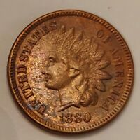1880 Indian Head Cent Grading AU/UNC Nice Coin Priced Right Shipped FREE  i7