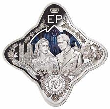 2017 Tokelau 70th Anniversary Royal Wedding 1 oz Silver Proof Coin with COA&Box