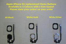 IPhone 5 S Home Bouton avec Anneau et câble flex Complet en 3 Couleurs