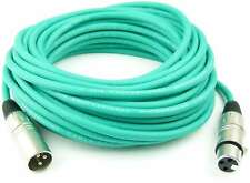 10 m profesional cables del micrófono simétrico Adam Hall verde XLR 3 pol DMX cables del micrófono