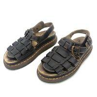 Dr Martens 8092 ARC Brown Leather Buckle Strap Fisherman Sandals Men 11 Women 12