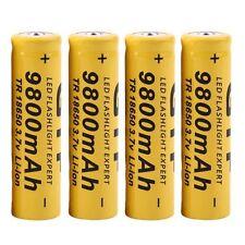 4x 3.7V 18650 9800mah Li-ion Rechargeable Batteries For LED Flashlight Torch UK