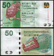 Hong Kong 50 dólares (P298a) Standard Chartered Bank 2010 UNC