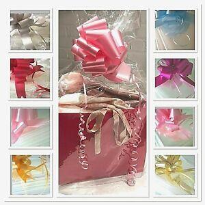 💜Large-xx Cello Bag & Bow Easy To Use Hamper Cellophane Wrap Christmas Baby Mum