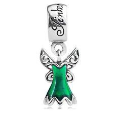 925 sterling silver Tinker Bell's Dress Pendant Dangle Charm F European Bracelet