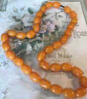 Vintage Catalin Bead Necklace