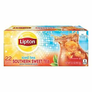 Lipton Southern Sweet Tea Iced Drink Mix 22 Family Size Bags 90.7g...