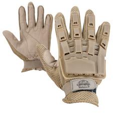 Valken V-Tac Full Finger Plastic Back Padded Gloves Tan Medium Paintball Airsoft