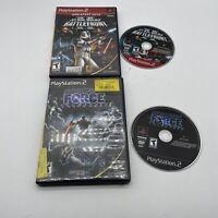 Star Wars ps2 game bundle Battlefront II (Black Label) & the force unleashed
