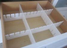 30 tlg. Schubladeneinteiler Schubladenteiler Fachteiler Weiß Zuschneidbar