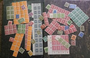 GERMANY INFLATION STAMP HOARD /  LARGE WIDE VARIETY IN QUALITY CONDITION /    8b