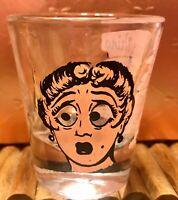 ROVING EYES NOVELTY SHOT GLASS ~ VINTAGE 50s/60s