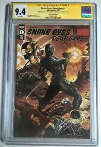 Snake Eyes: Deadgame #1 CGC 9.4 Comics Vault Exclusive Signed/Sketched