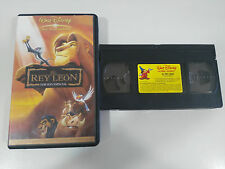 THE KING LEON THE CLASSICS WALT DISNEY EDITION SPECIAL VHS TAPE SPANISH