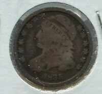 1835 P Capped Bust Silver Dime Coin Choice Circulated Condition