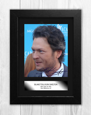 More details for blake shelton 1 a4 signed mounted photograph picture poster choice of frame