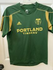Adidas Green Mls Portland Timbers Soccer Jersey Youth Large 14-16 Preowned