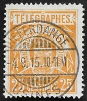 1883 Luxembourg Telegraphs Revenue stamp 25c Good Used Scarce