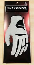 Strata Tech Men's Golf Glove Regular Left L White and Black Soft Comfortable New