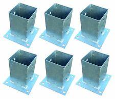 6x Post-Responsables pour Post Clôture 9x9cm Dévisser Galvanisé Douille Vissée