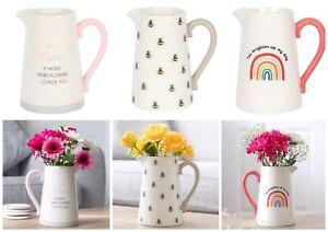 Mum Friend Teacher Ceramic Flower Vase Jug Mother's Day Thank You Birthday Gift