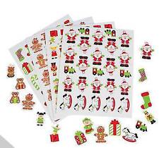 116 Santa Workshop Christmas Foam Stickers Scrapbooking Gifts Reindeer and More!
