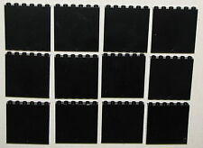 LEGO LOT OF 12 NEW BLACK 1 x 6 x 5 PANEL WALLS CASTLE TOWN HOUSE BUILDING CITY