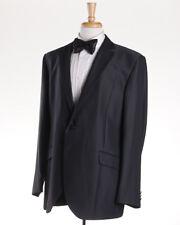 NWT $1375 LUBIAM (L.B.M. 1911) Black Stripe Formal Evening Suit Slim 46 R