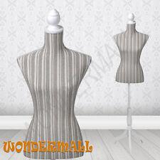 Ladies Bust Display Stripe Female Mannequin Dressmaker Dummy Form Model Display