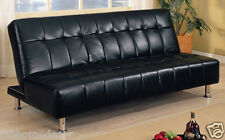 Office Leatherette  Soft Sofa cum Bed by Furny